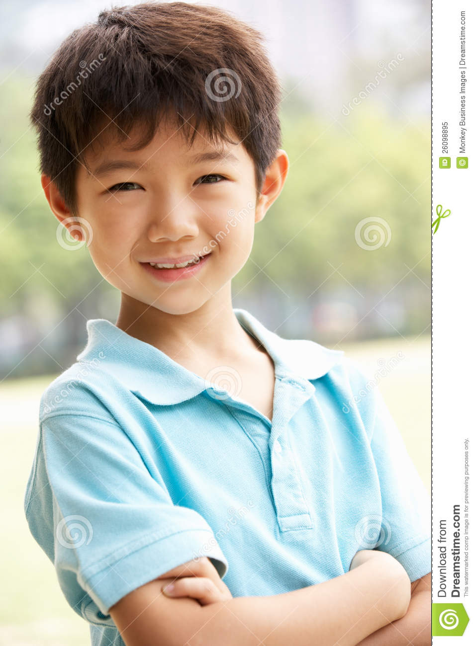 Head And Shoulders Portrait Of Chinese Boy Royalty Free Stock Photo ...