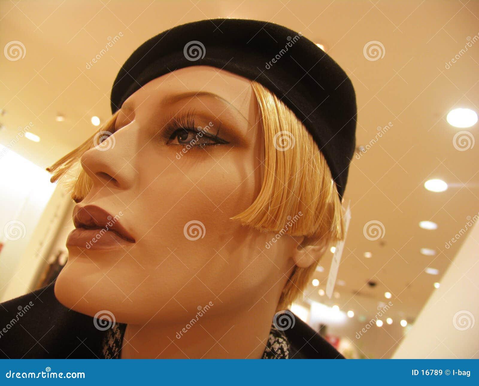 Head skyltdocka för kvinnlig