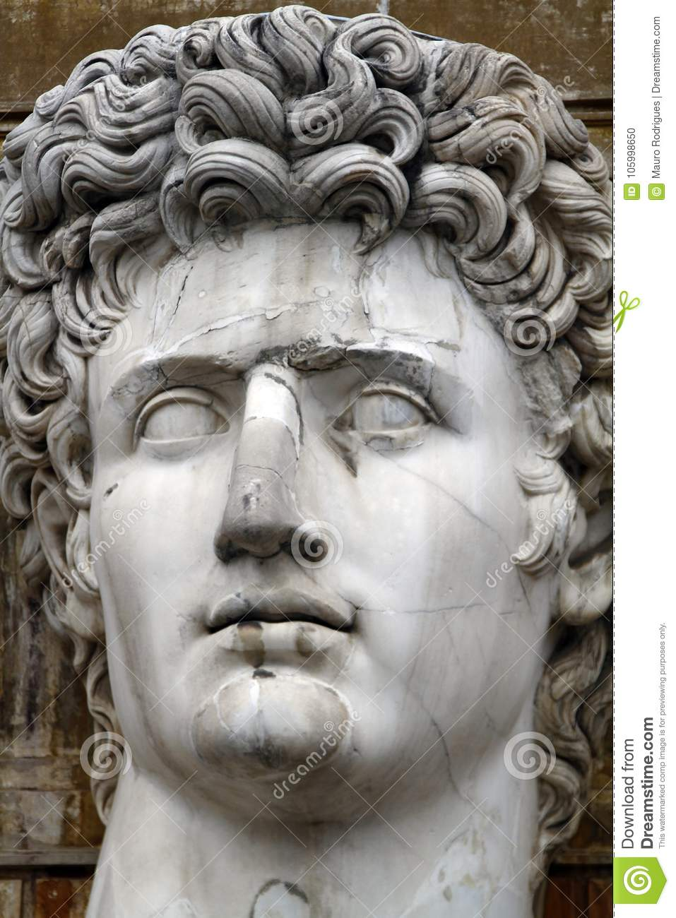 Head Statue Of Julius Caesar Editorial Image Image Of Symbol Rome