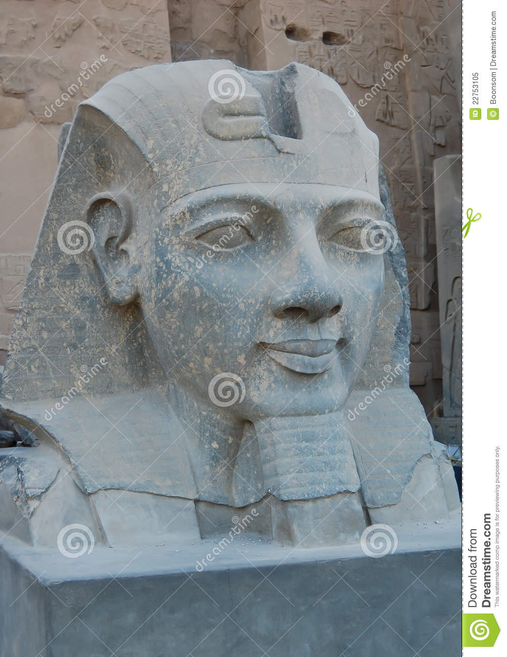 Head Statue Of Ramses II Royalty Free Stock Photo - Image: 22753105