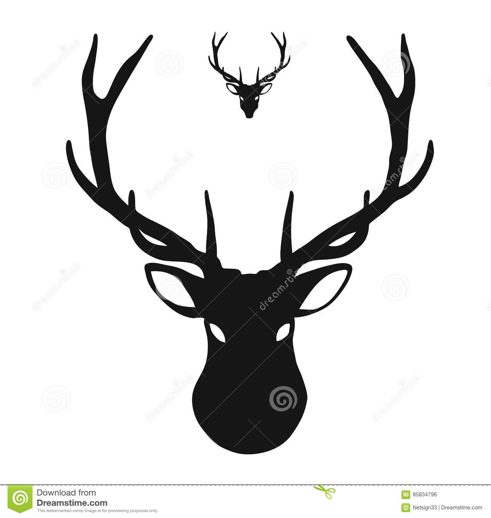 Head symbol för hjortar