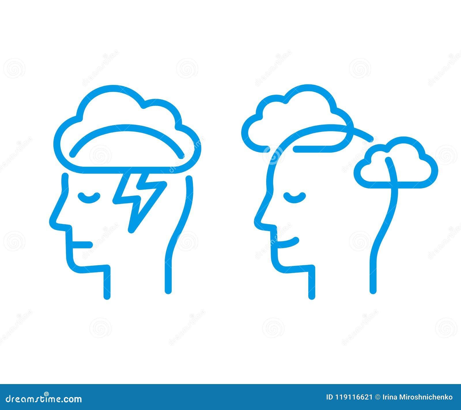 Head symbol med molnet