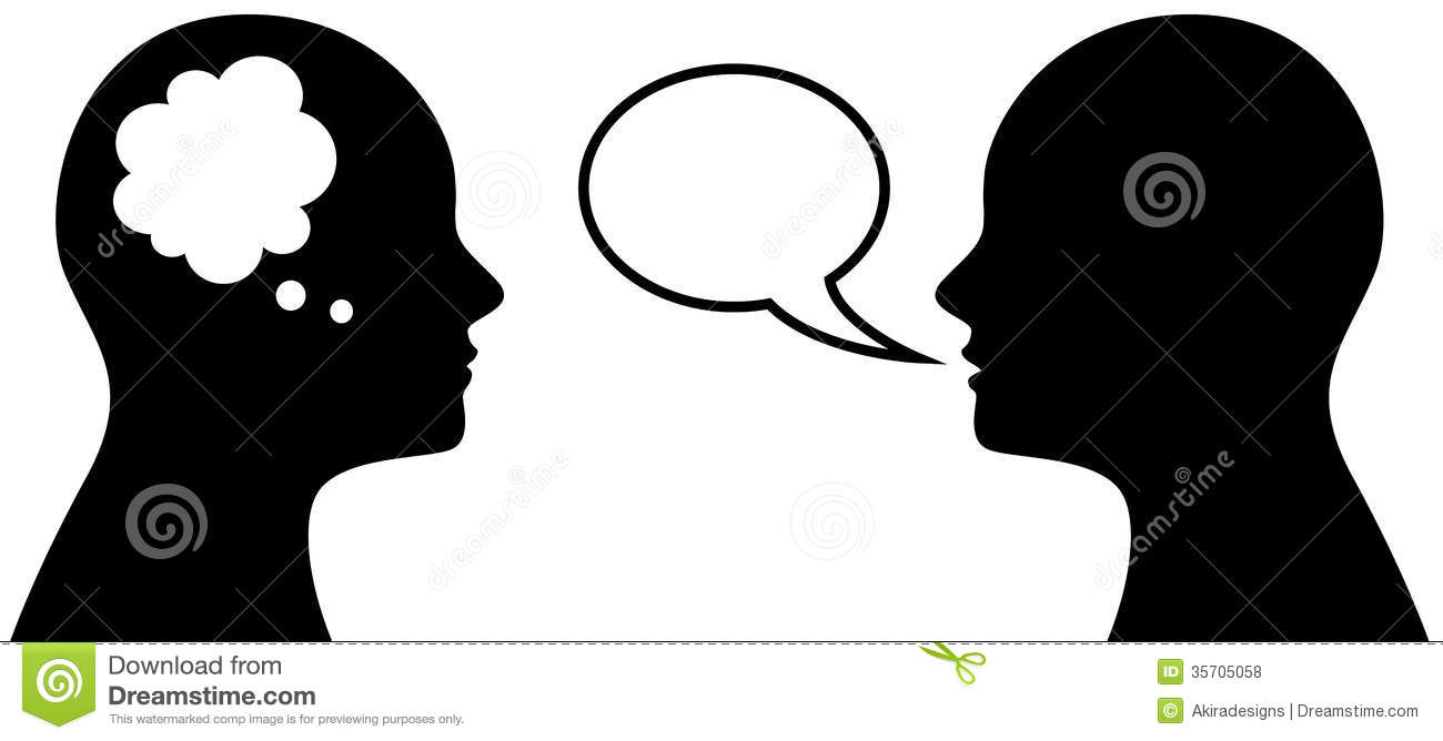 Head Symbol With Thought And Speach Bubble Royalty Free Stock Photos ... Happy Child Clipart