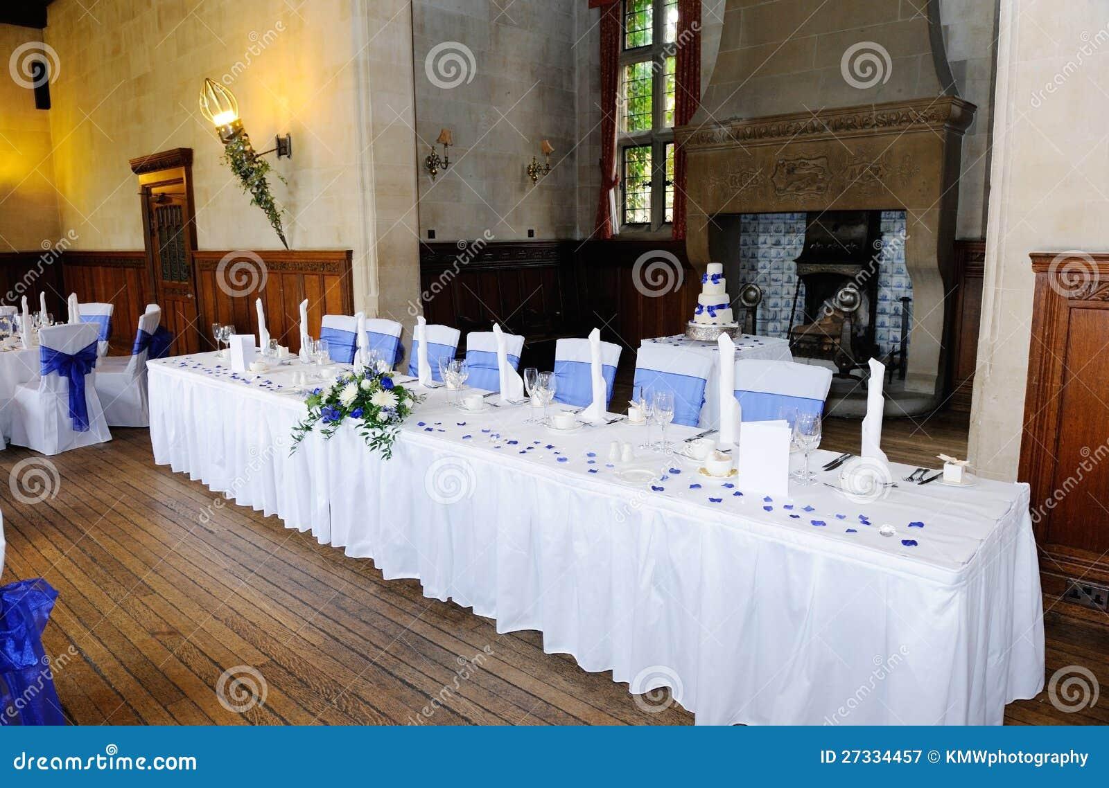 Head Table Decorations Wedding Reception Wedding Dress: Head Table At Wedding Reception Stock Image