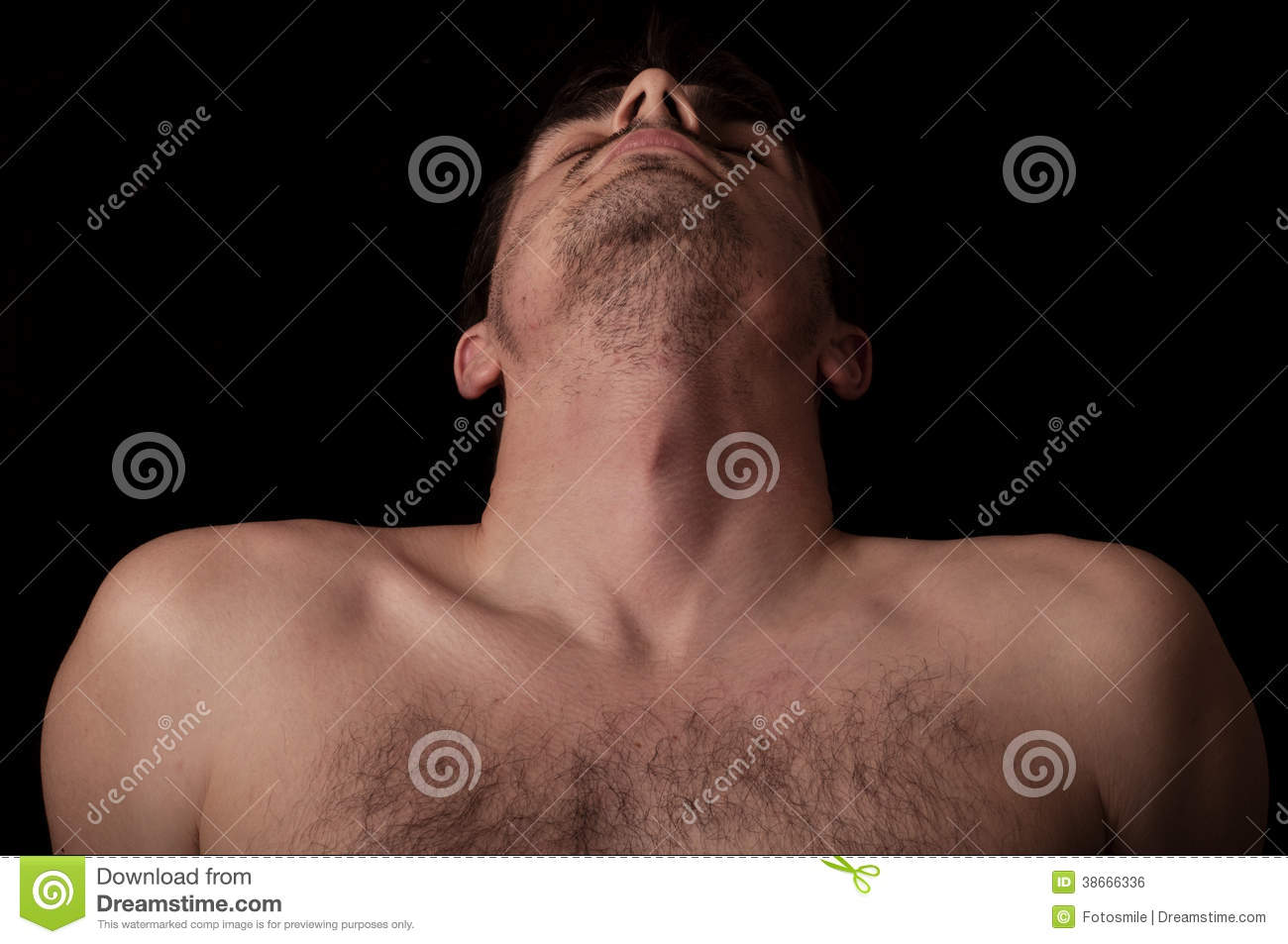 Head Tilted Back Royalty Free Stock Image