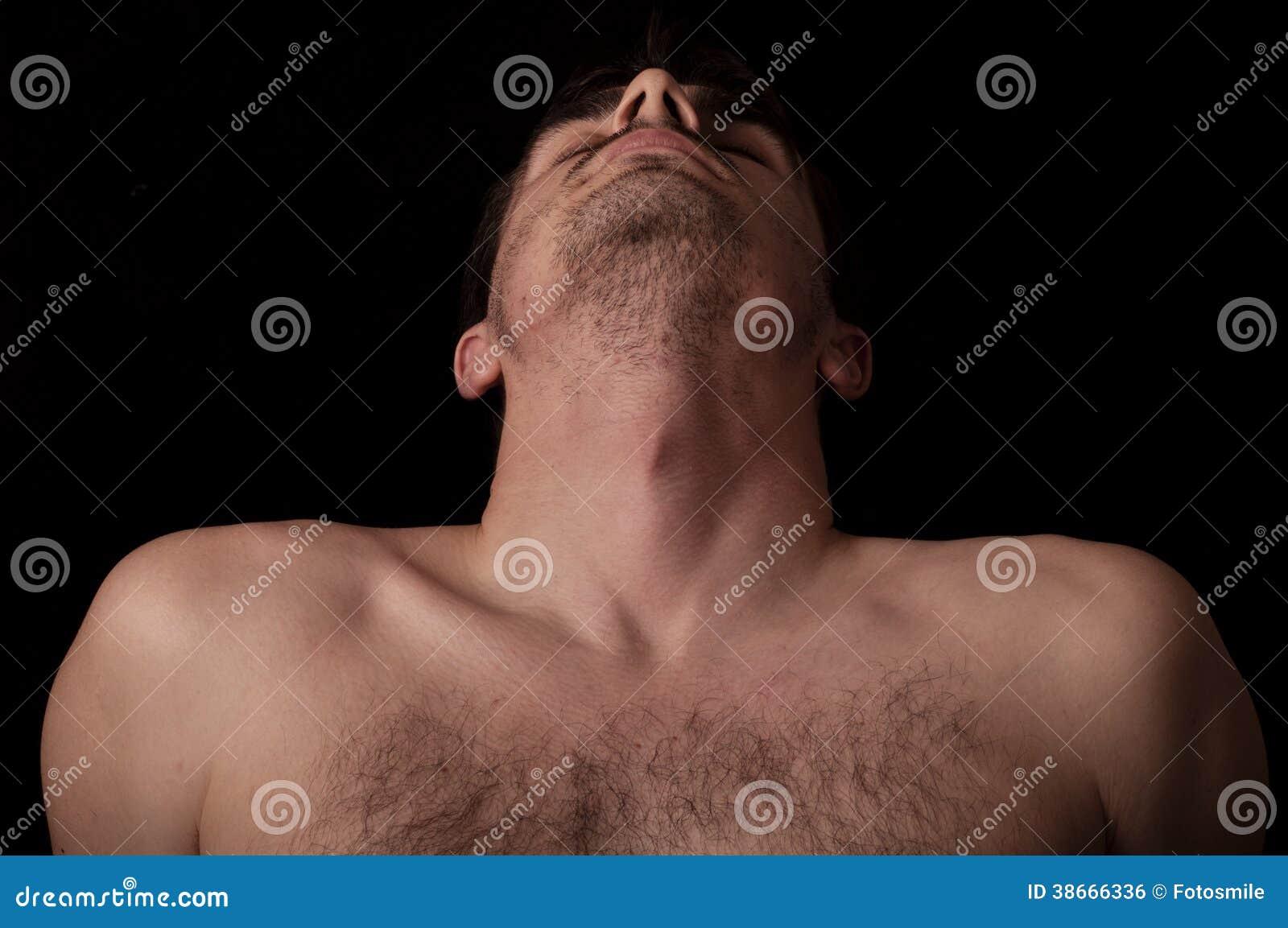 Head tilted back stock photo. Image of black, anatomy - 38666336