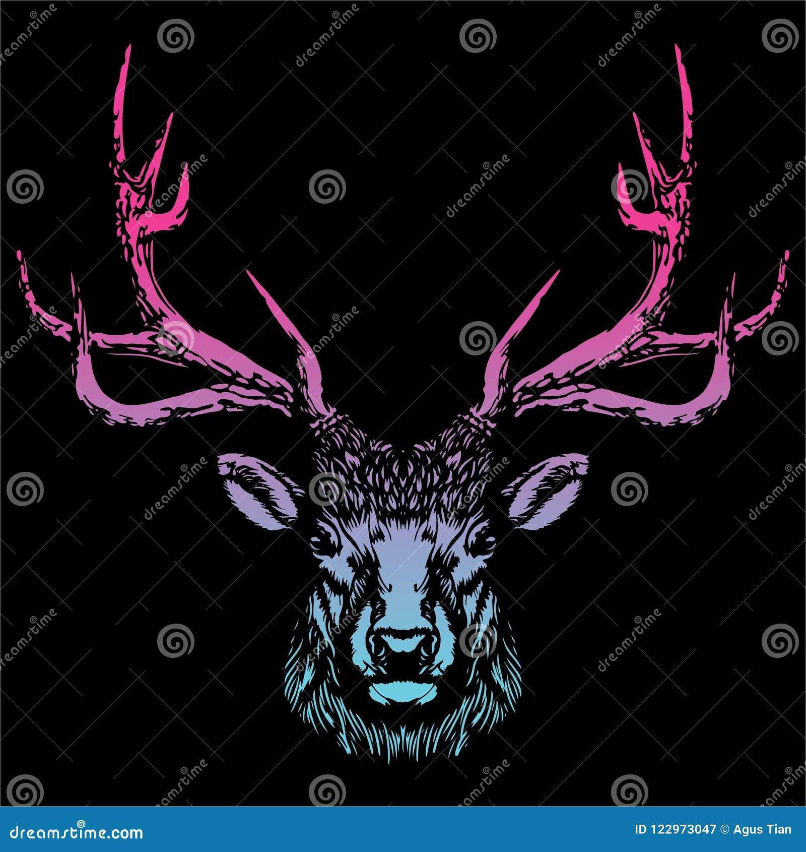 Head vektorbild för hjortar