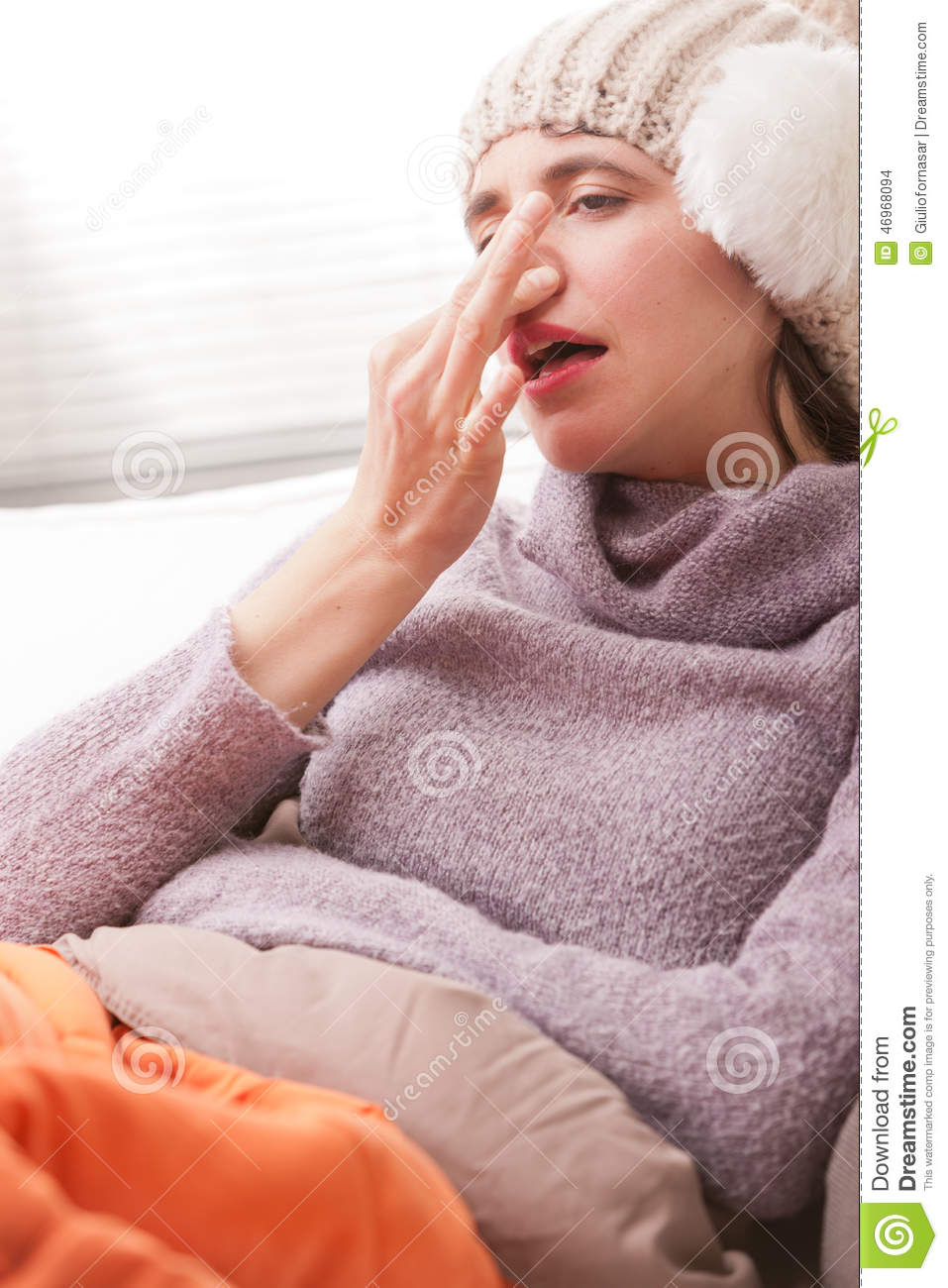 Headache and illness of a young woman