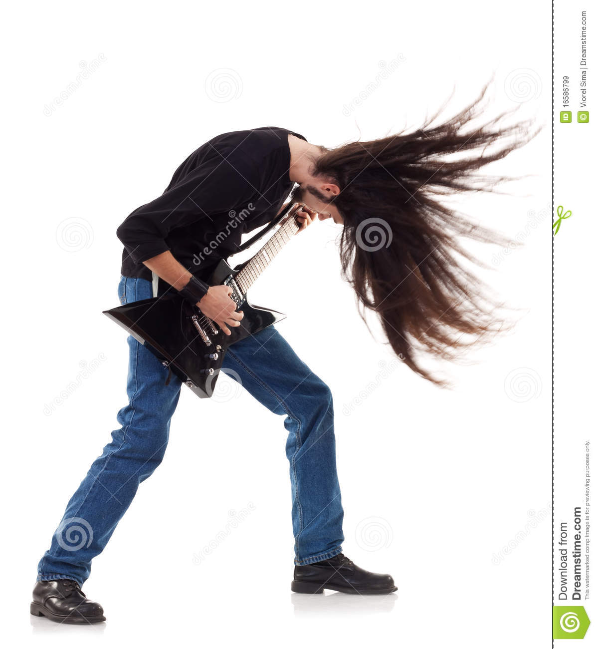 Headbanging Rocker Royalty Free Stock Images - Image: 16586799