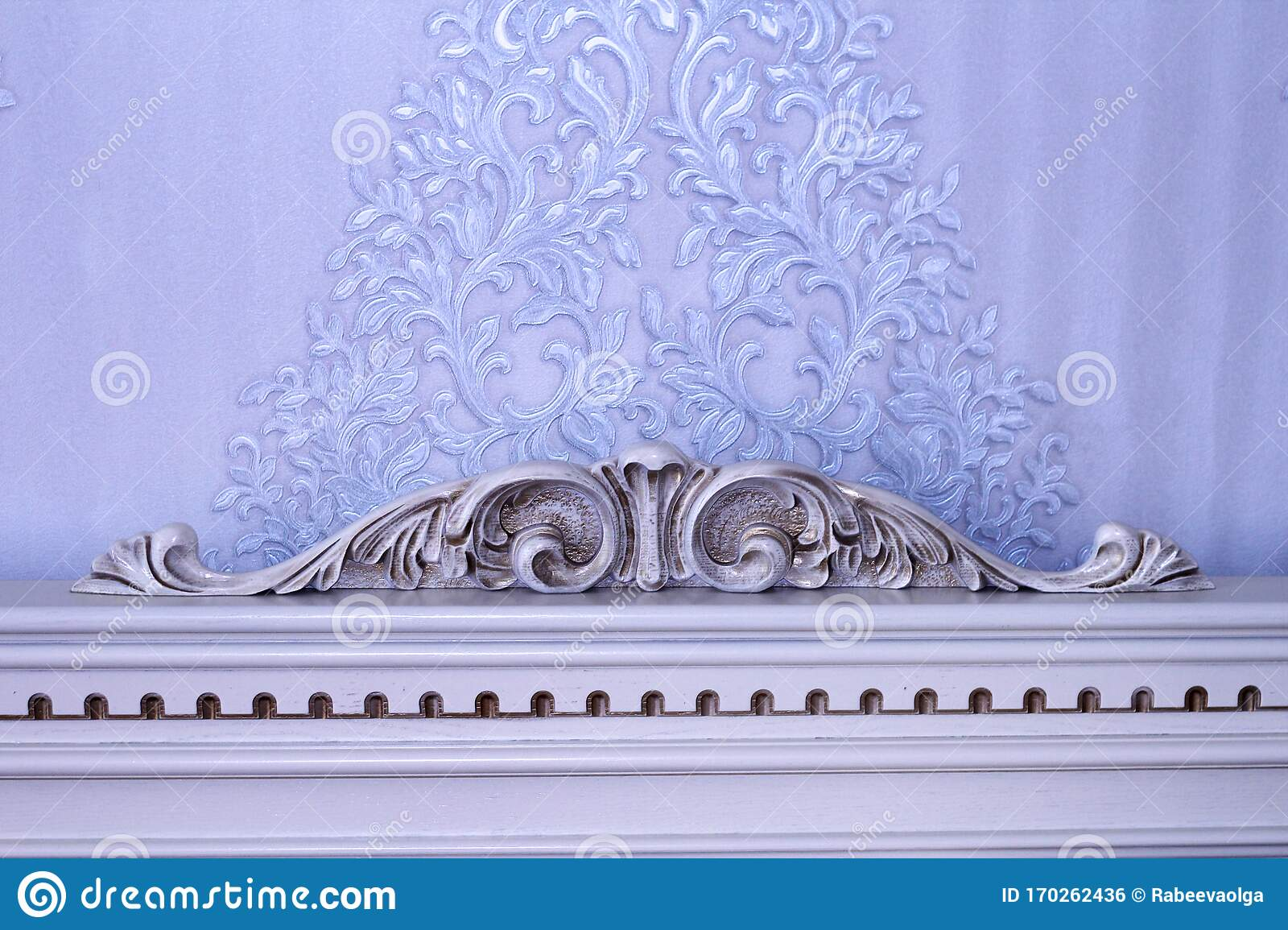Headboard Vintage Wooden With Wood Carving Stock Photo Image Of Elegance Decor 170262436