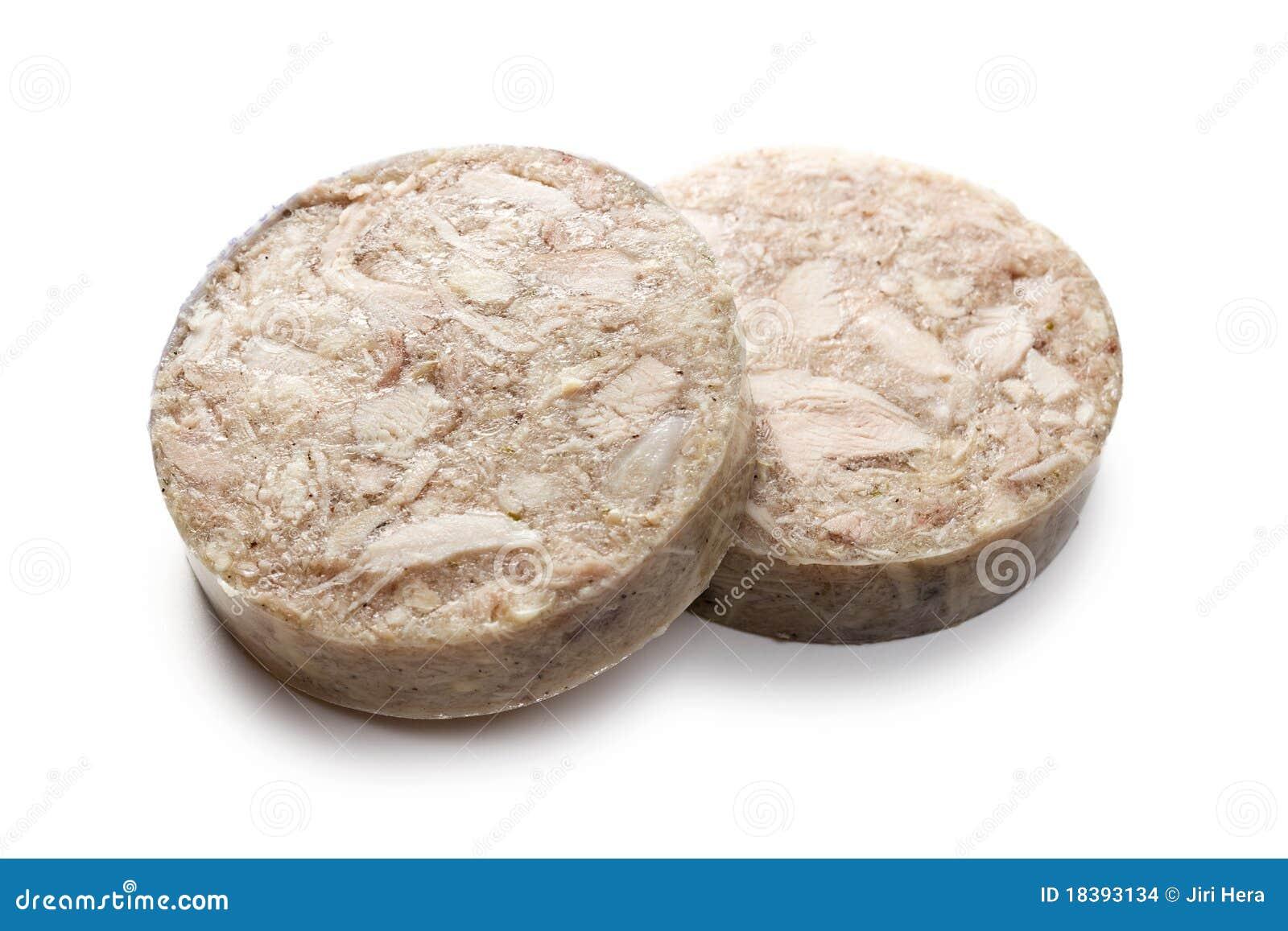 Headcheese отрезанная сосиска