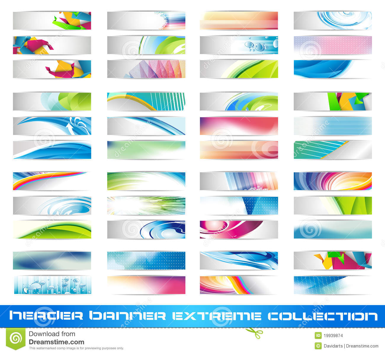 Download Header Banner Extreme Collection Stock Vector - Illustration of colorful, abstract: 19939874