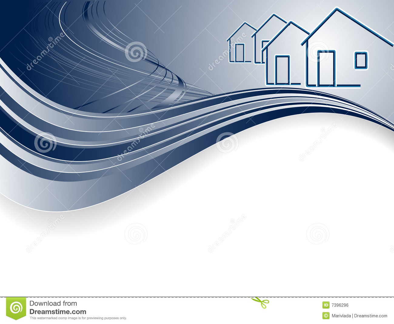 Header For Real Estate Royalty Free Stock Image - Image: 7396296