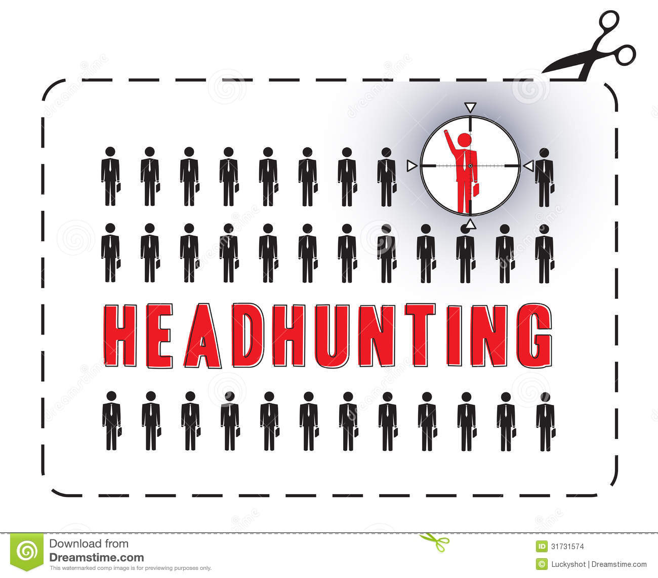 headhunting poster stock vector  illustration of employer