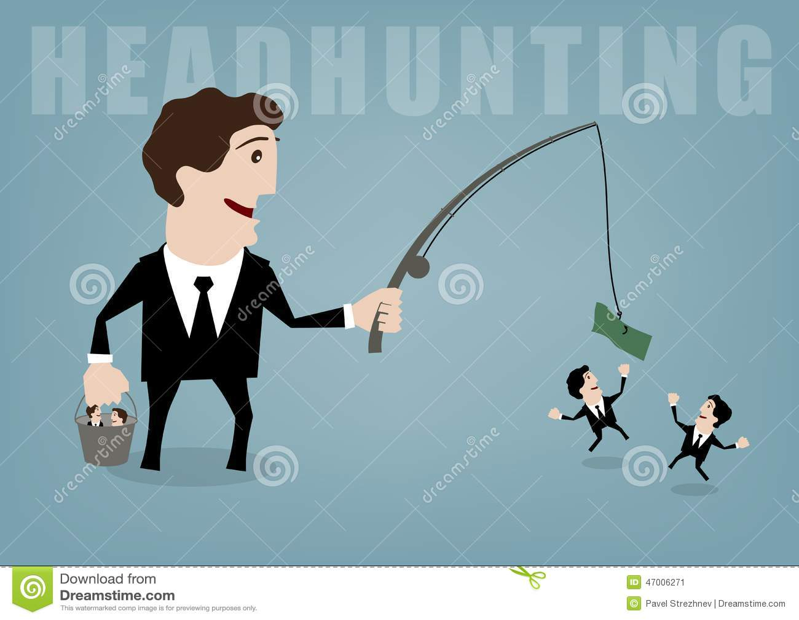 headhunting stock illustration image  headhunting