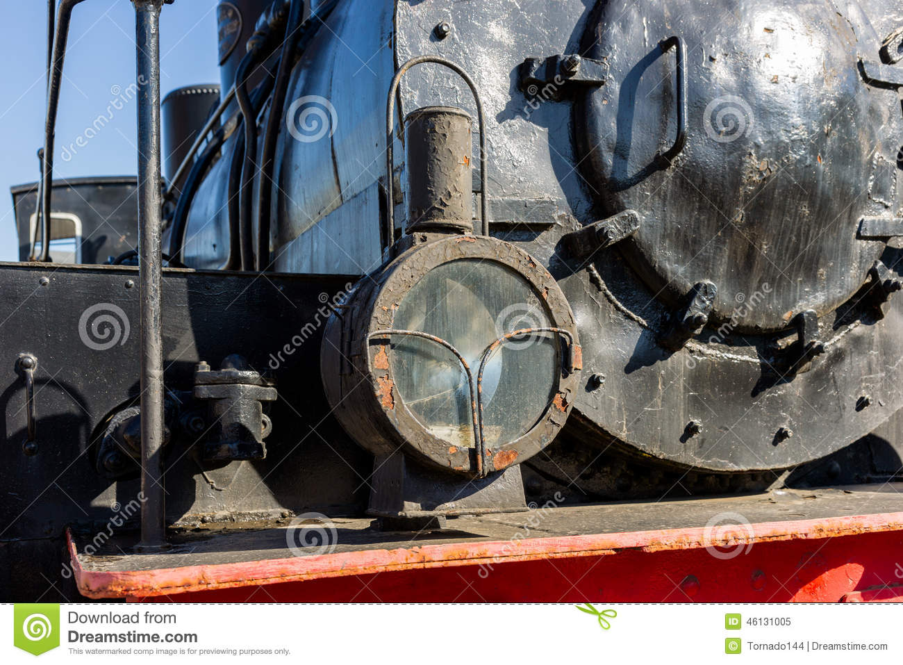 Headlight Of The Ancient Steam Locomotive  Petroleum Lamp
