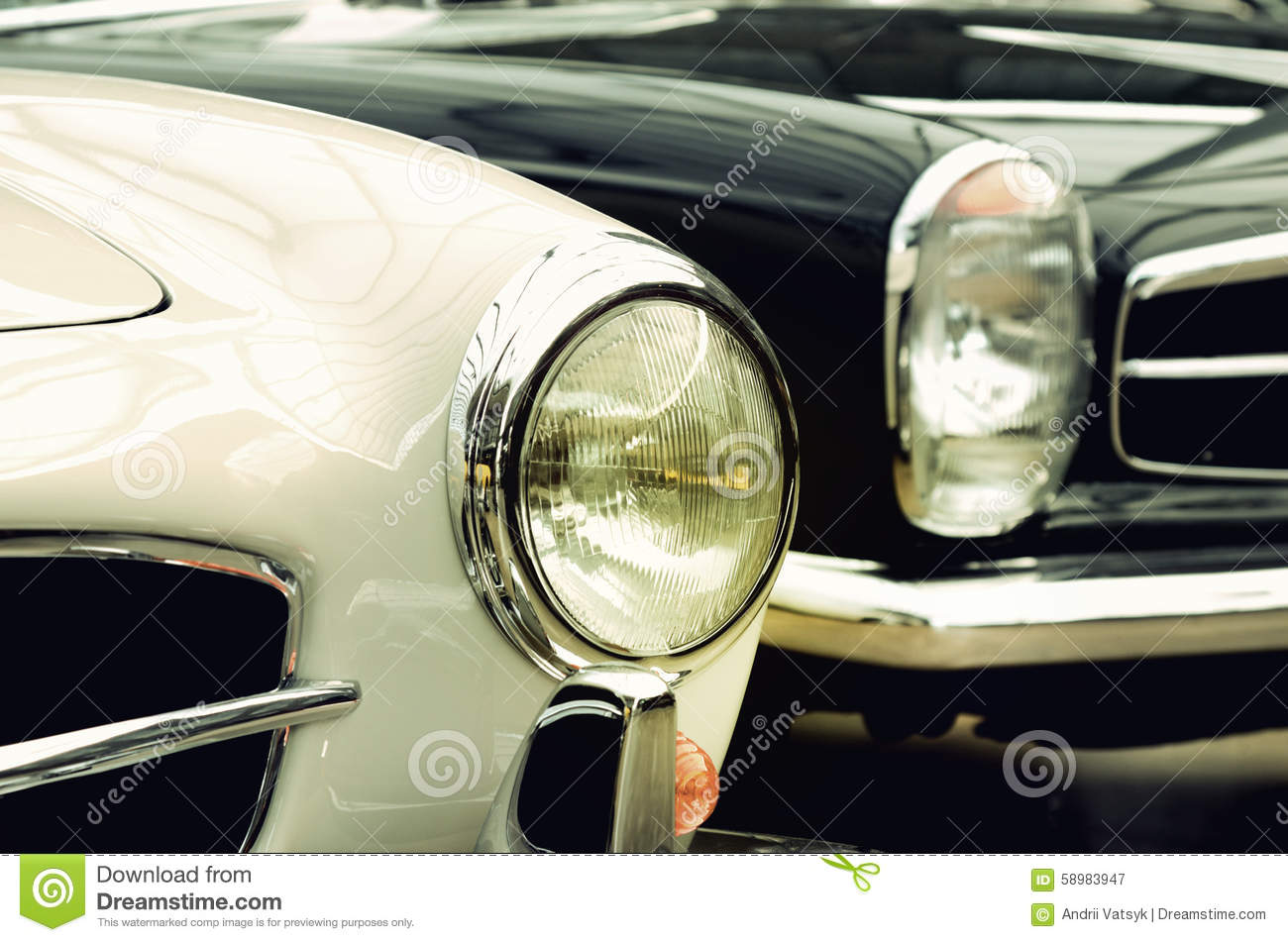 Vintage Auto Headlight Styles : Headlights old cars in vintage style good and evil