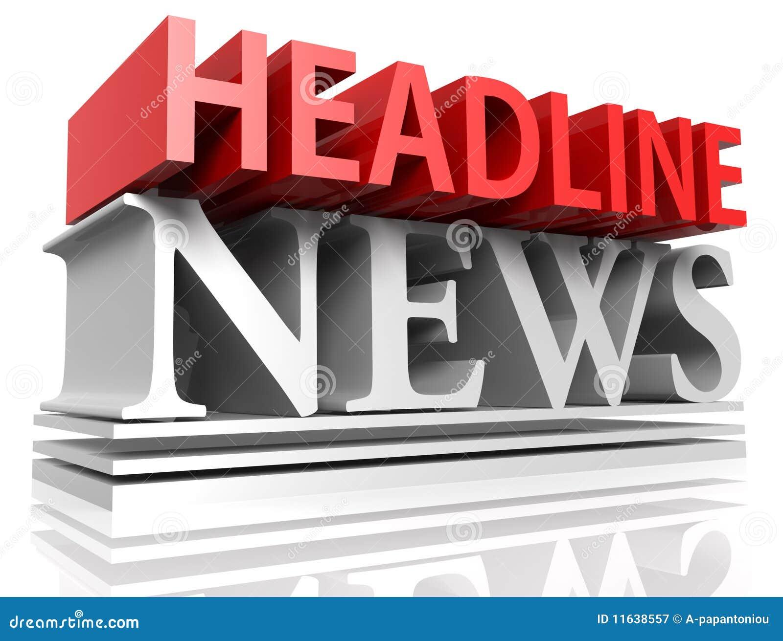 headline news stock illustration illustration of white 11638557