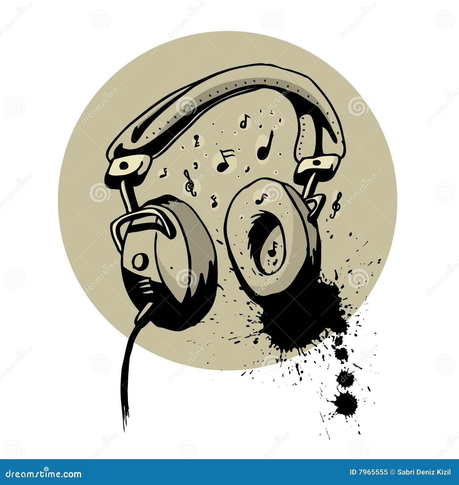 Headphone Drawing Vector Royalty Free Stock Photo Image