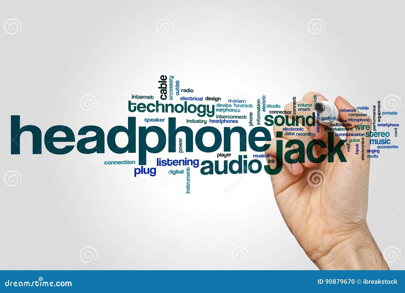 Headphone Jack Word Cloud Stock Photo Image Of Microphone 90879670 Mic Wiring Diagram