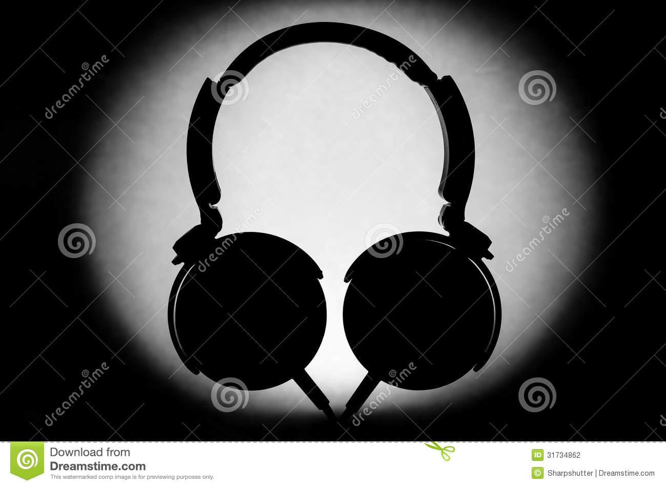 Headphone Silhouette Stock Photography Image 31734862