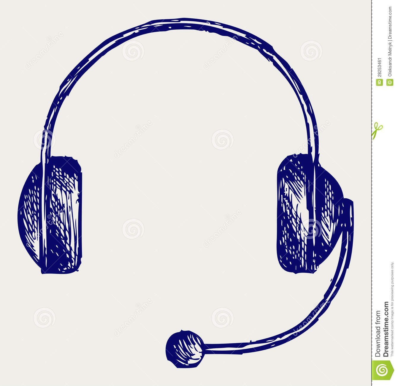 Line Art Headphones : Headphones stock vector image of concept drawing icon