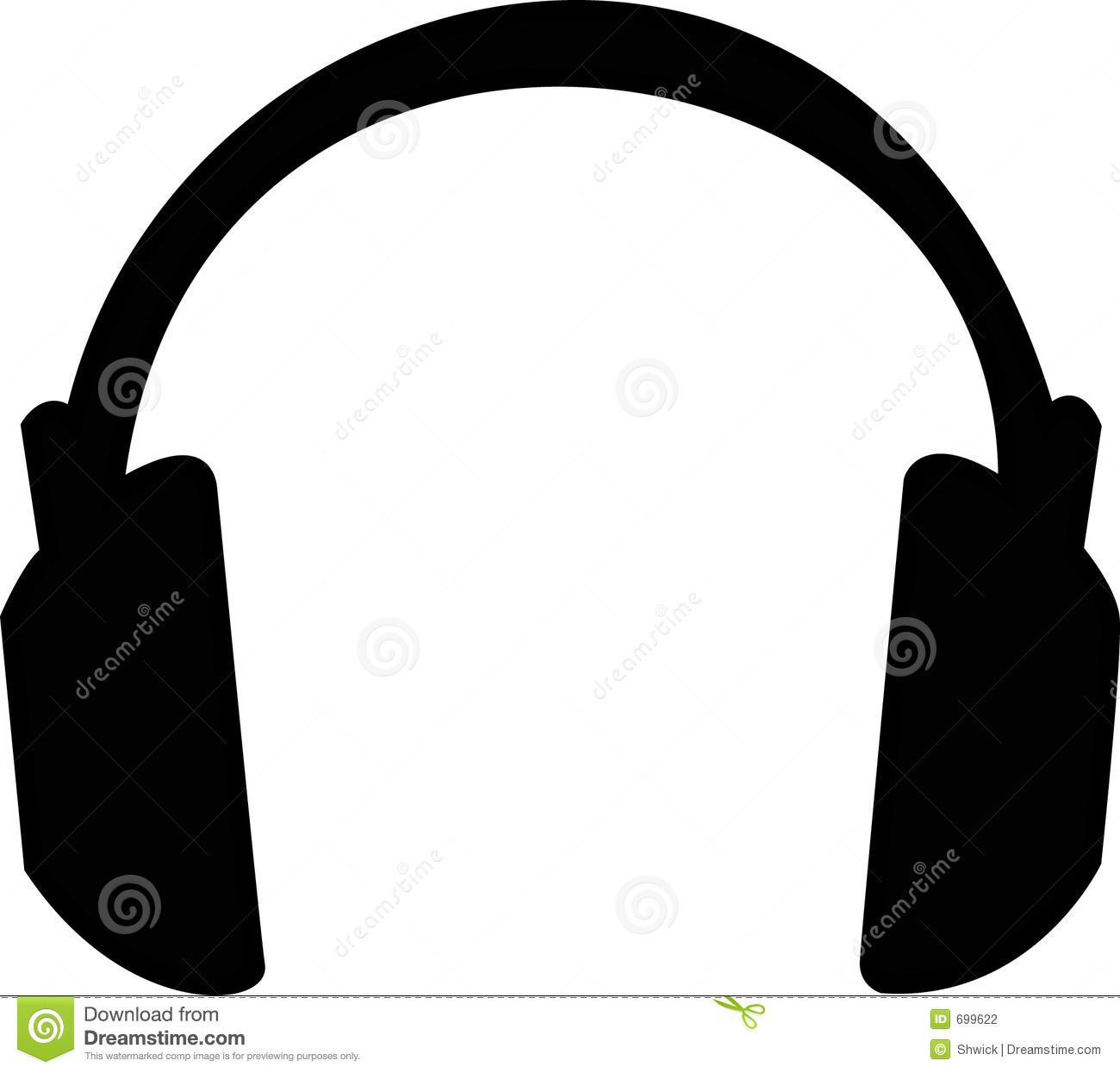 Large black headphones illustration - large headphones that cover ears ...