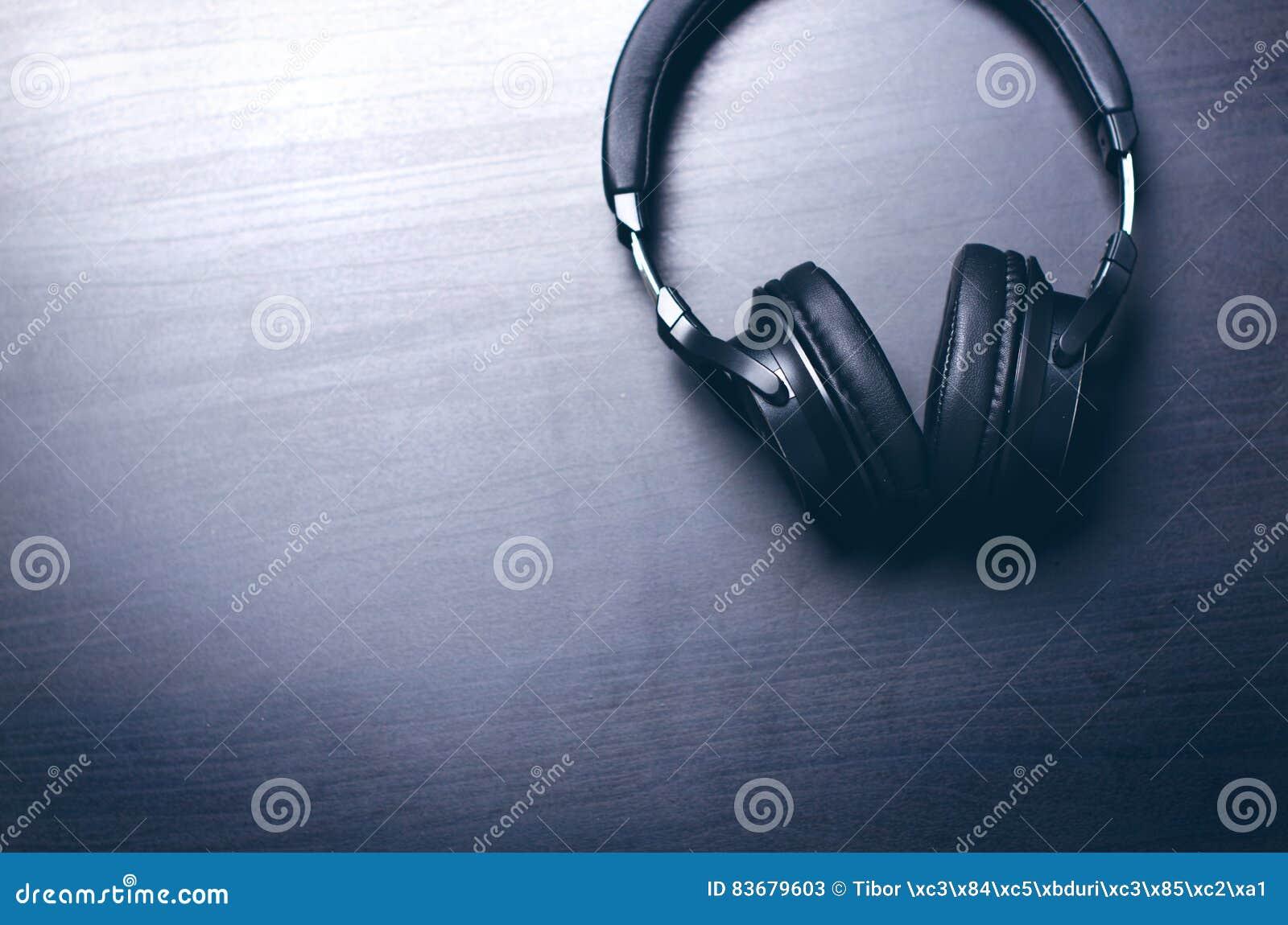 Headphones Music Microphones 4500x4100 Wallpaper: Headphones On A Dark Background. Music Accessories