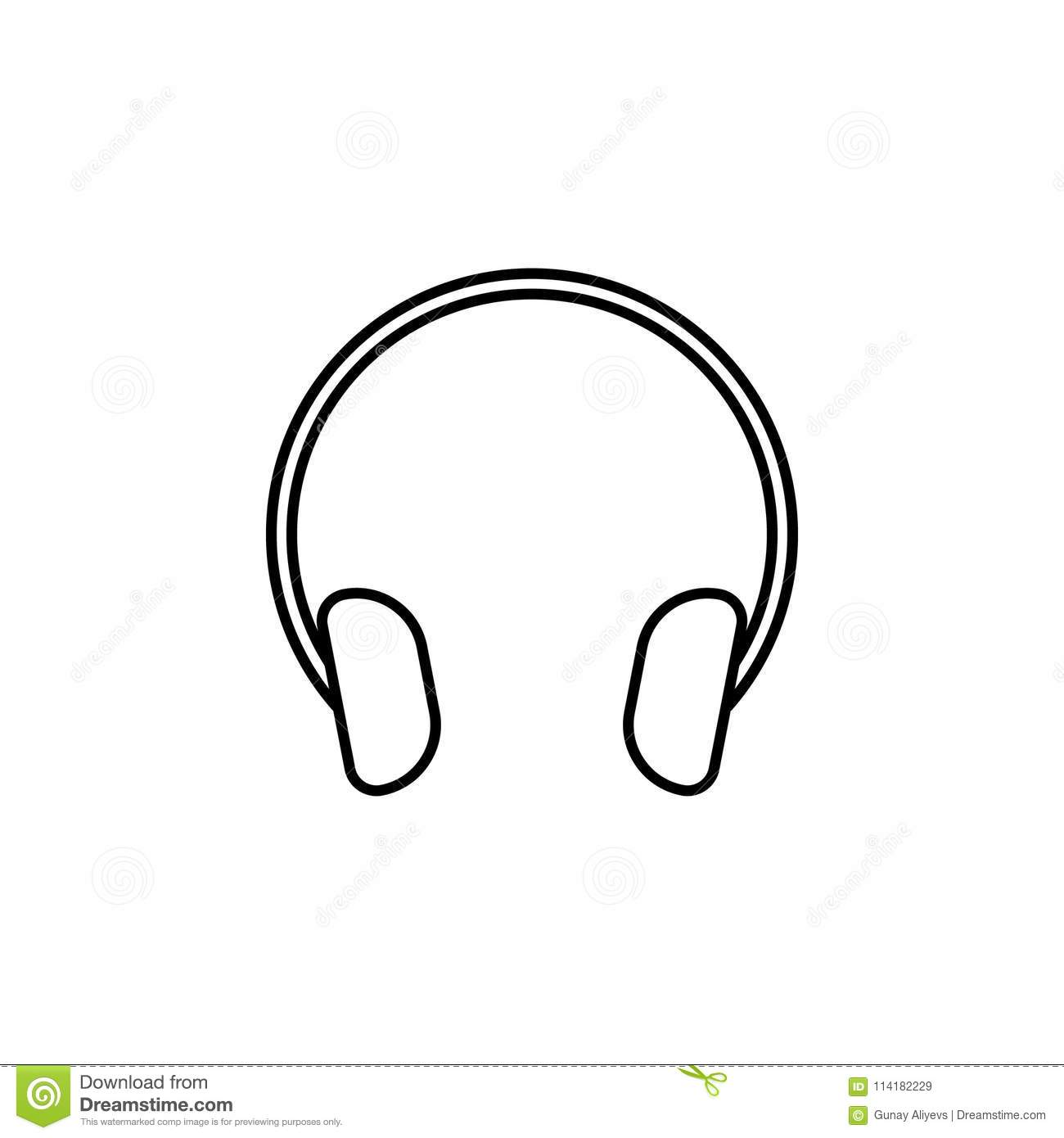 Headphones Icon  Element Of Simple Icon For Websites, Web