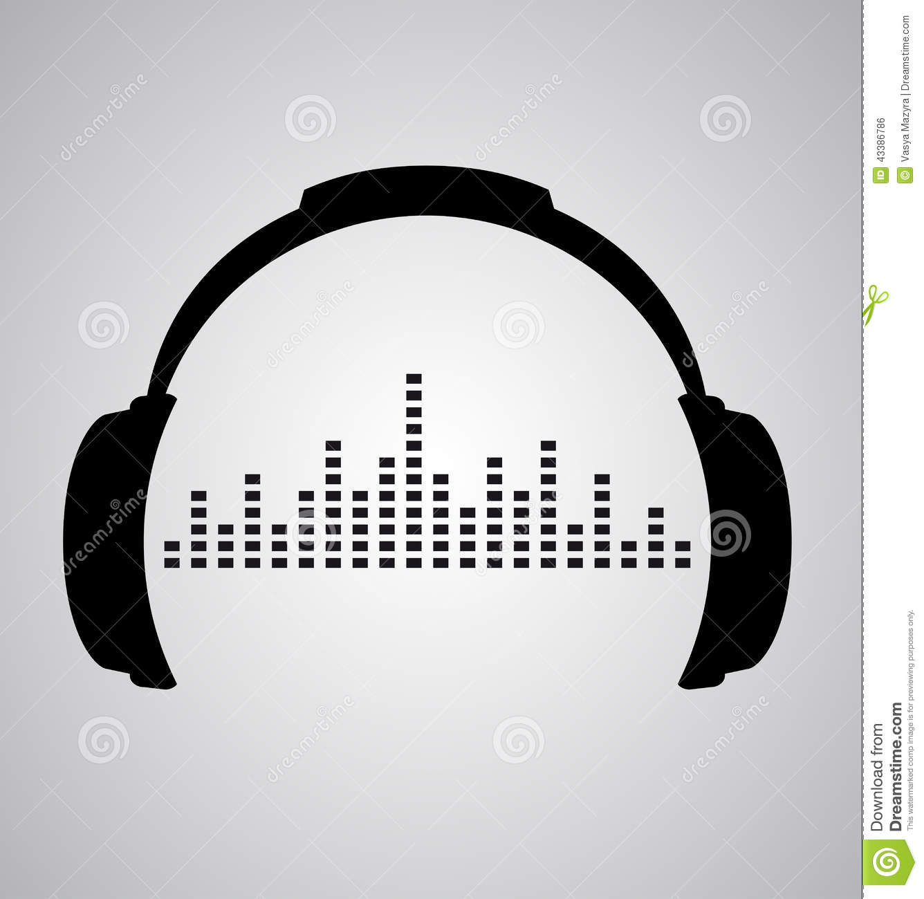Headphones Icon With Sound Wave Beats Stock Vector ...