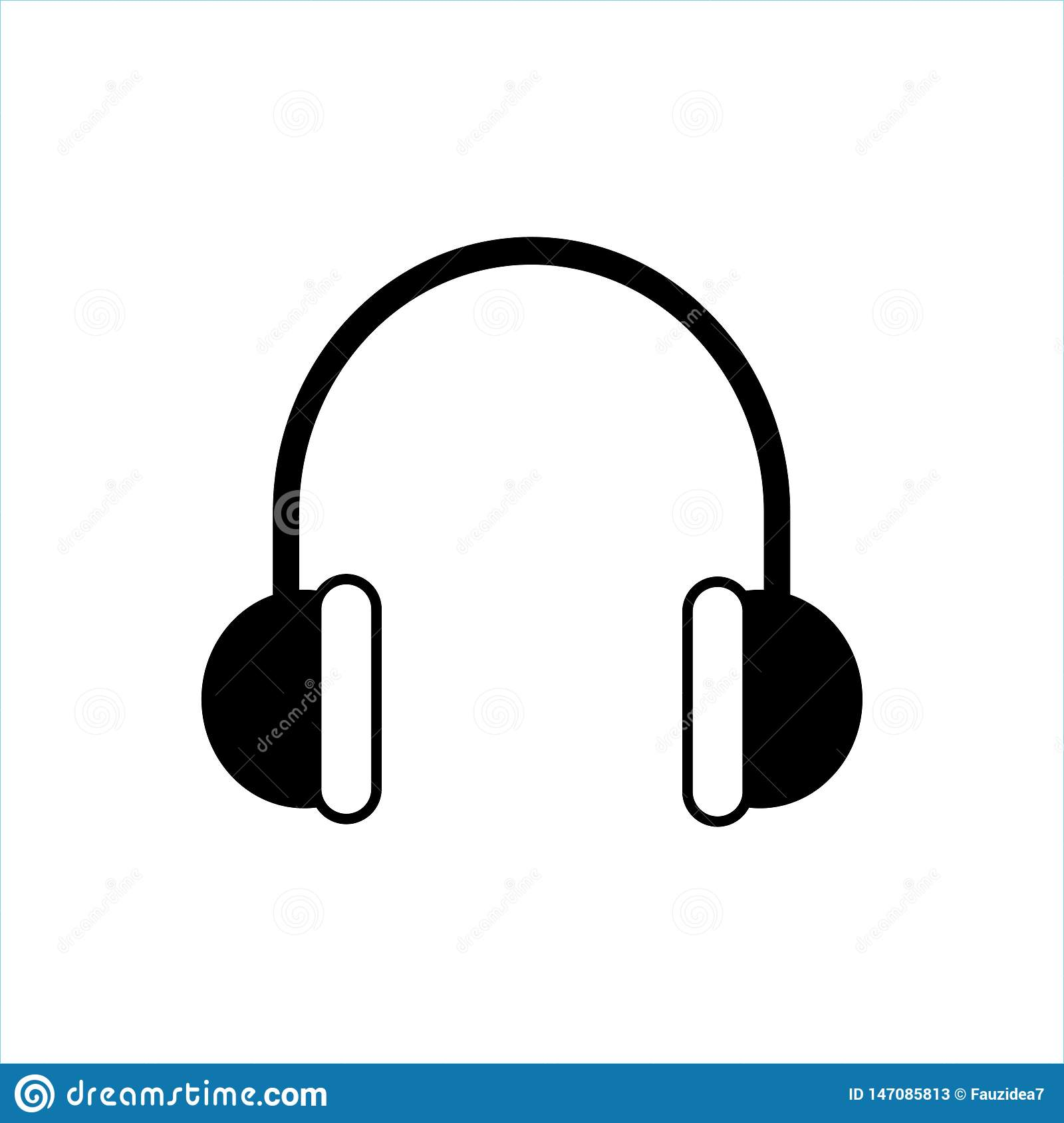 Headphones Icon Vector, Music Icon, Music Vector