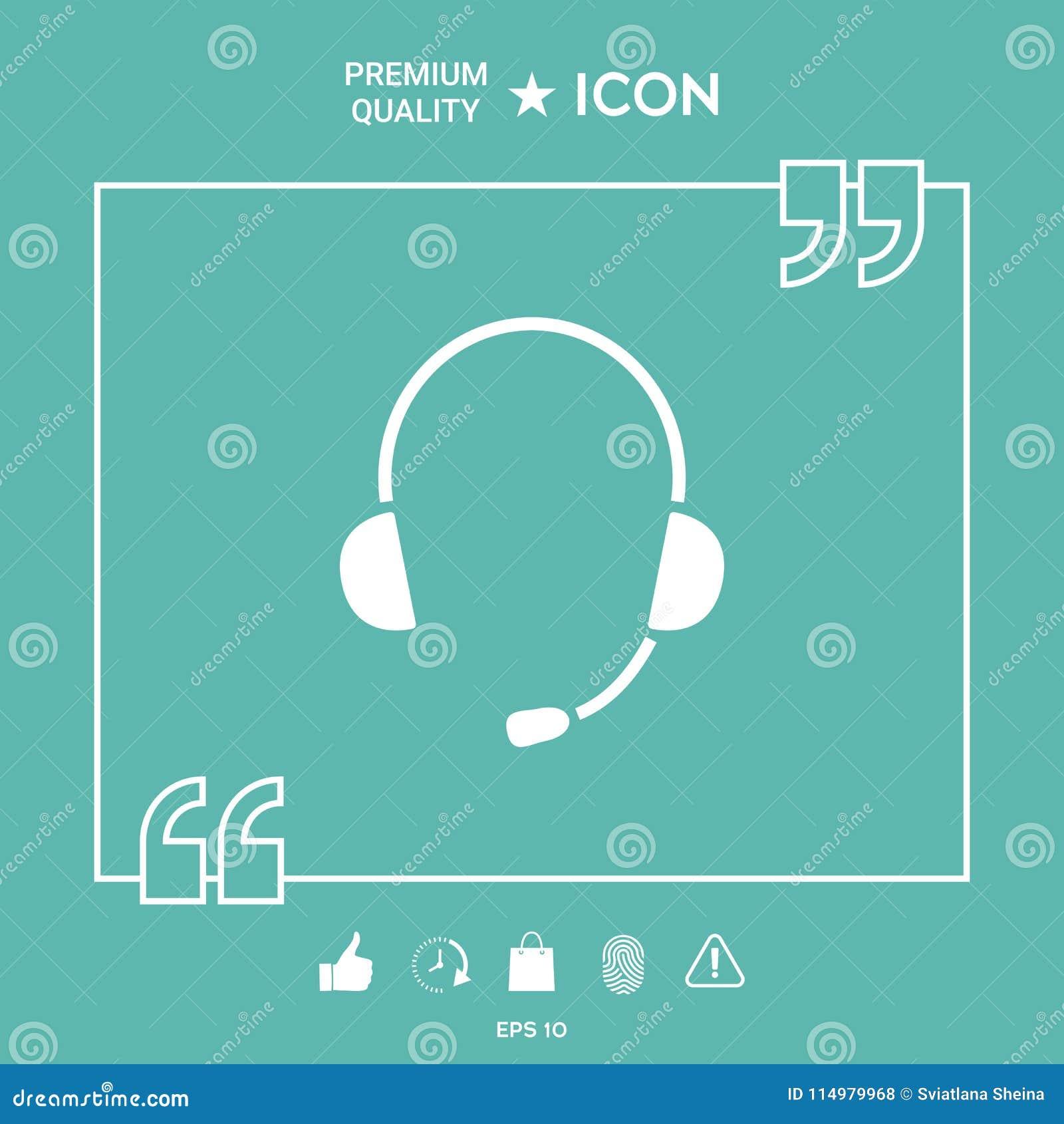 headphones with microphone icon
