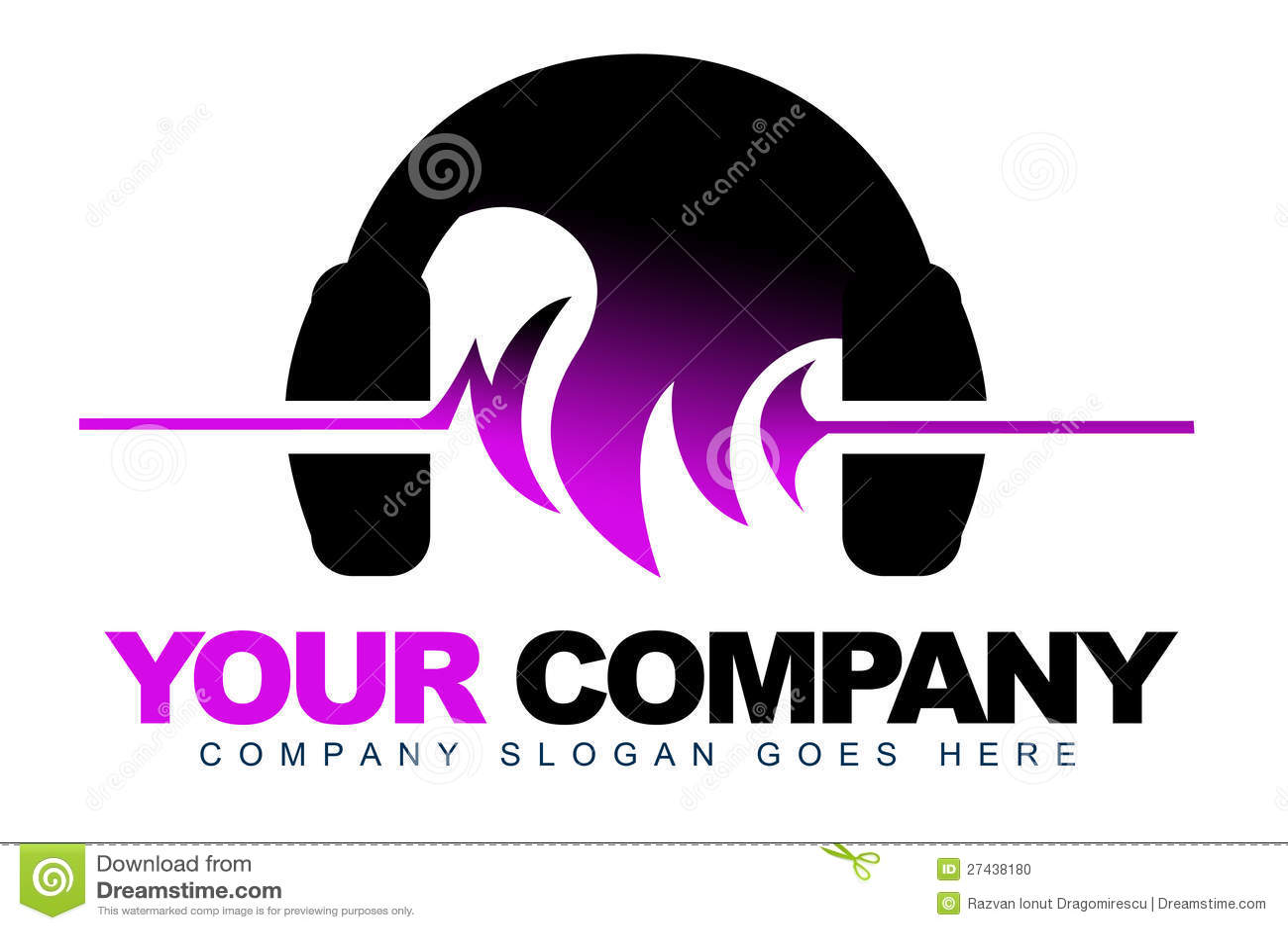 Headphones Music Logo Stock Photo Image 27438180