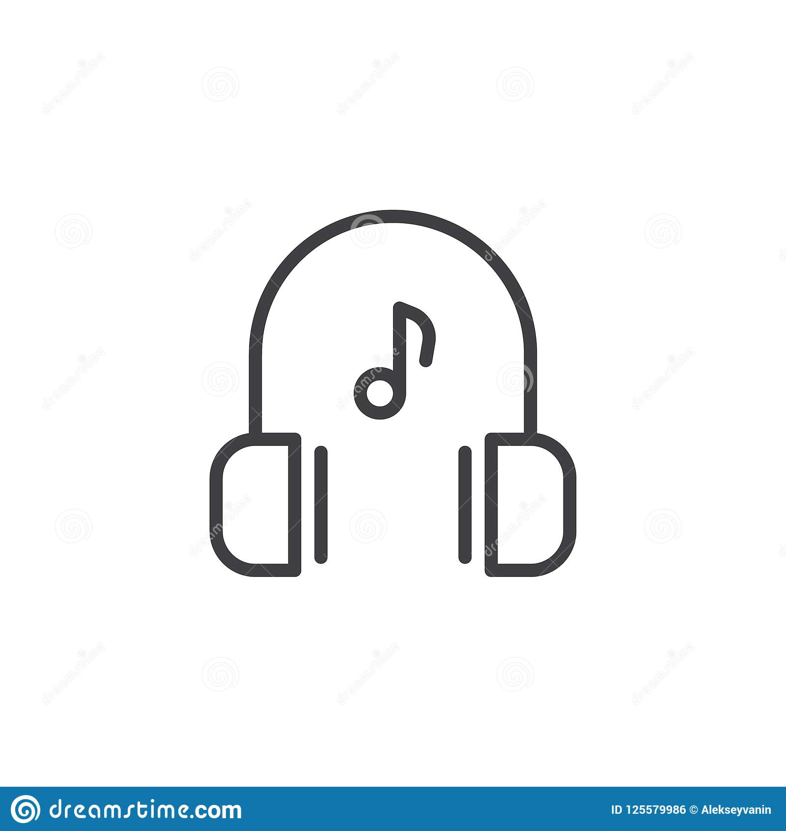 Music Note Outline