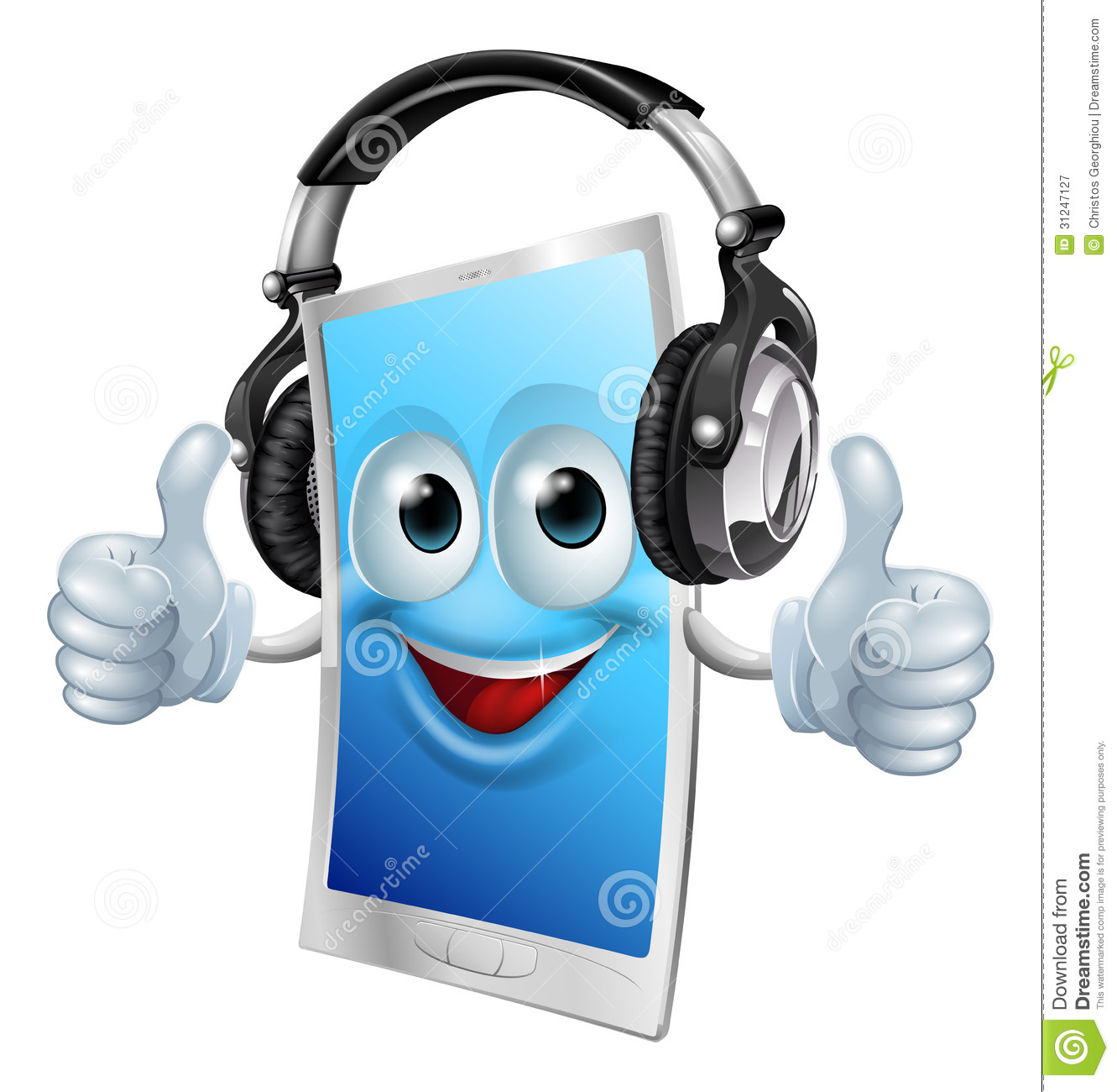 Headphones Phone Man Royalty Free Stock Photography - Image: 31247127: www.dreamstime.com/royalty-free-stock-photography-headphones-phone...