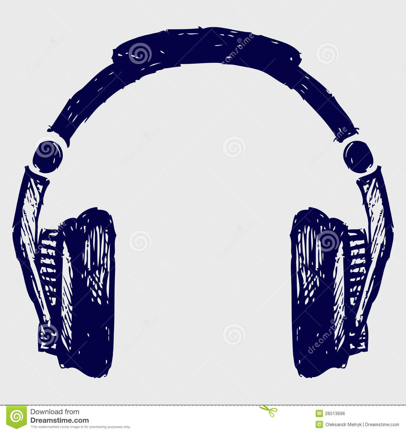 Headphones Sketch Royalty Free Stock Image - Image: 26513696