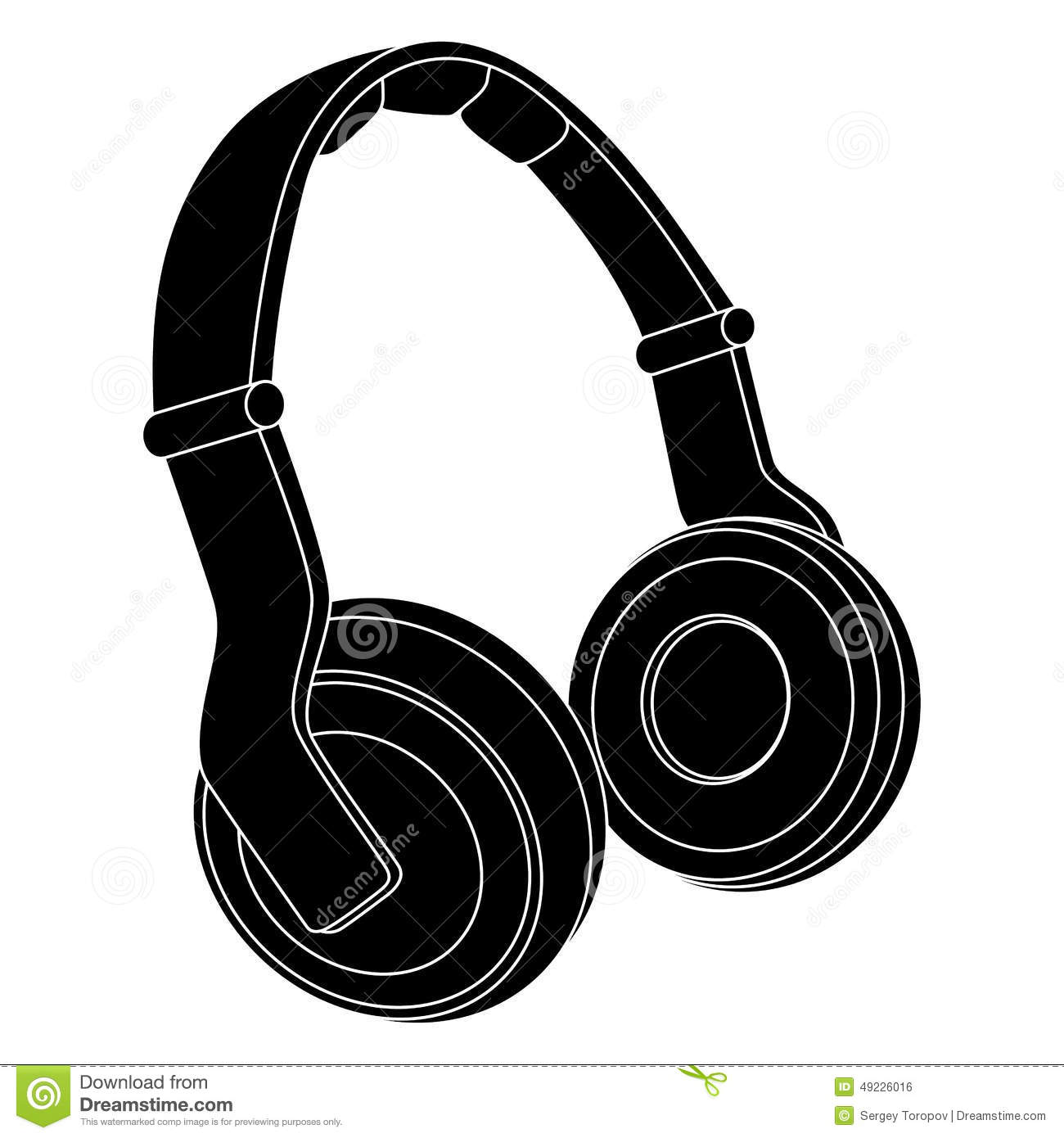 Headphones. Vector Illustration Stock Vector - Image: 49226016