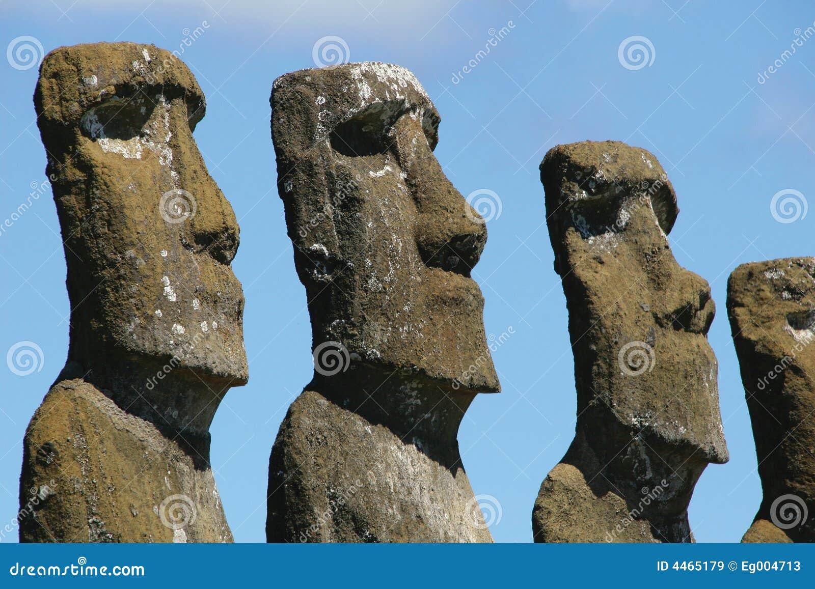 Heads of Ahu Akivi, Easter Isl