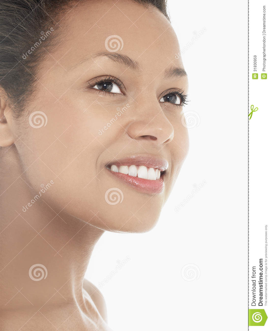 Headshot Of An Attractive Young Woman Smiling Royalty Free Stock ...