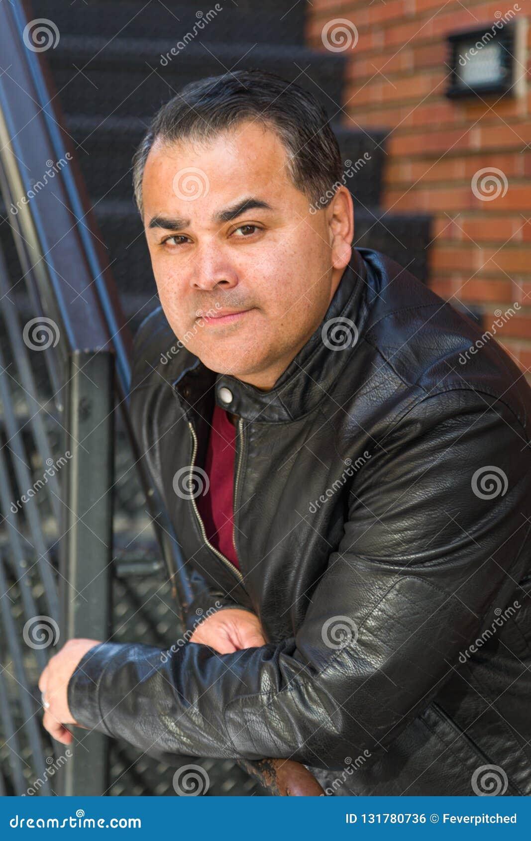 Headshot Portrait of Handsome Hispanic Man