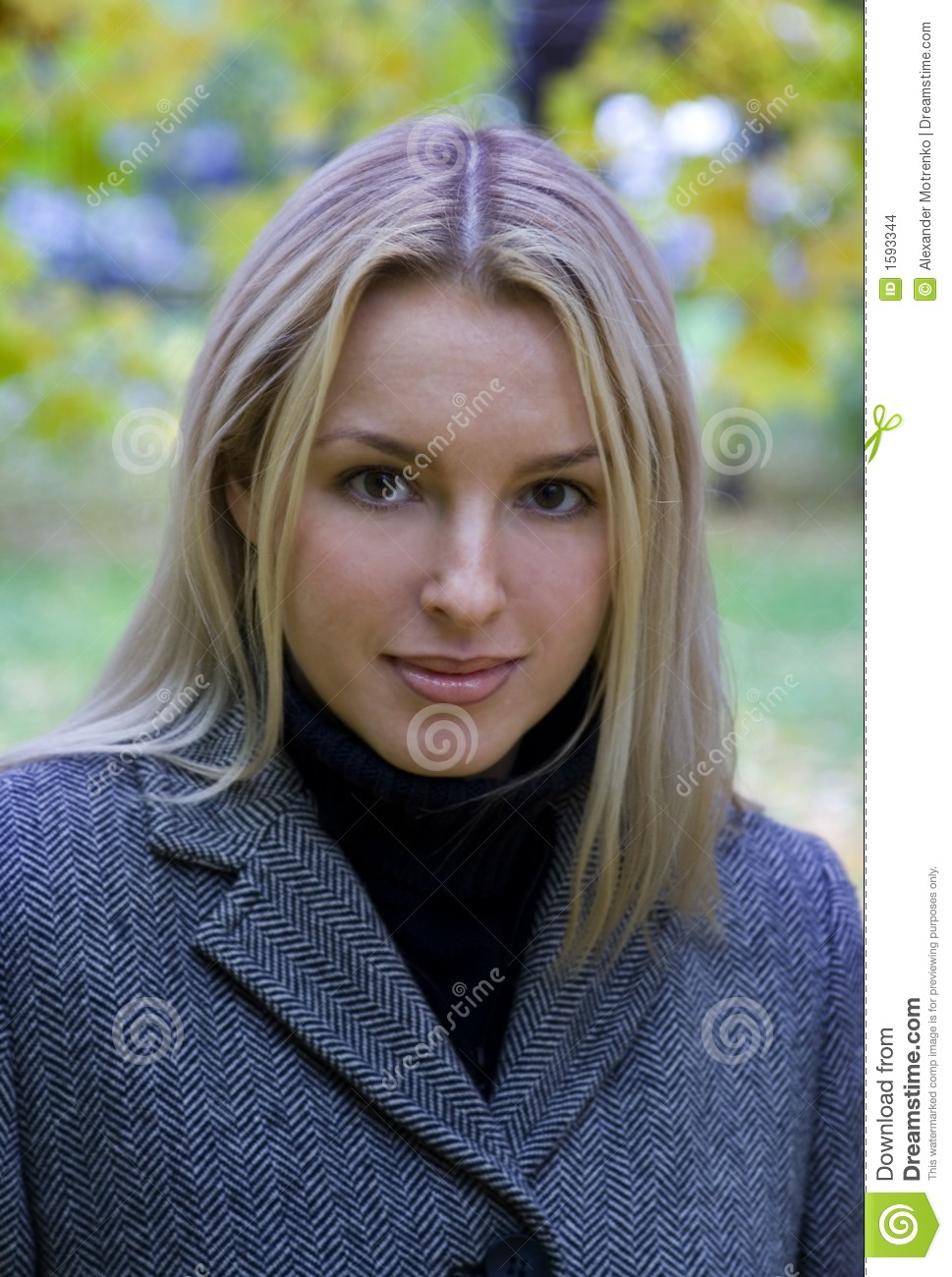 headshot of a pretty girl stock images   image 1593344