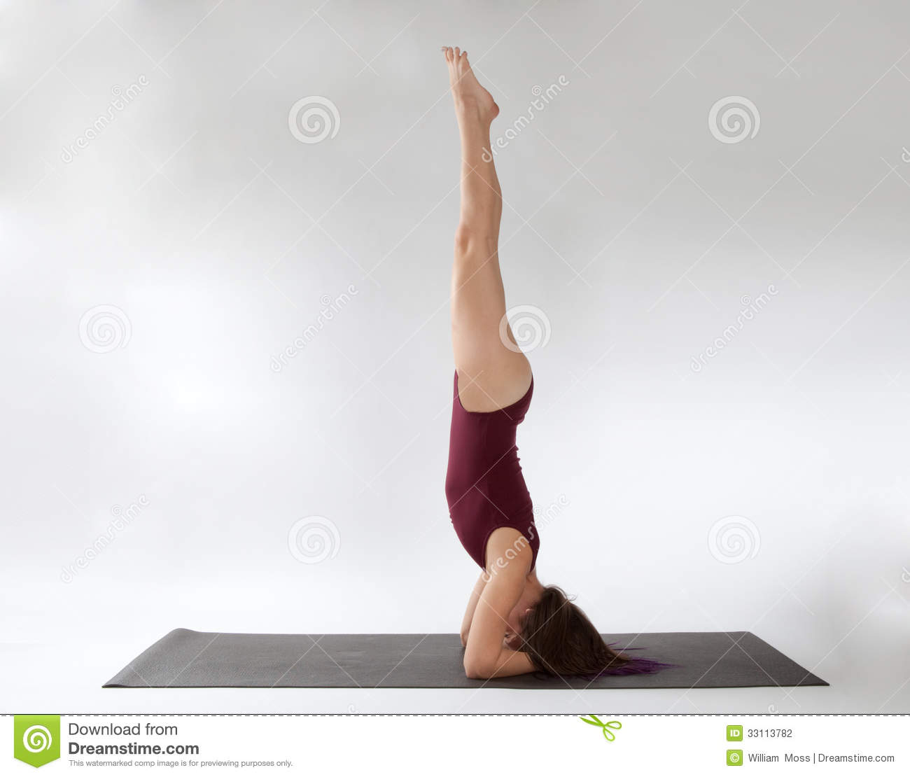 Headstand Stock Photography Image 33113782