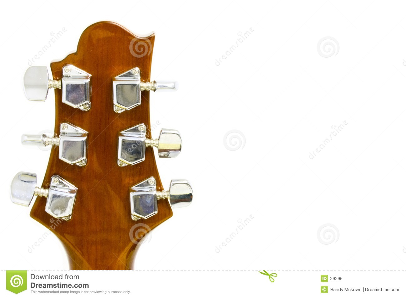 Headstock da guitarra