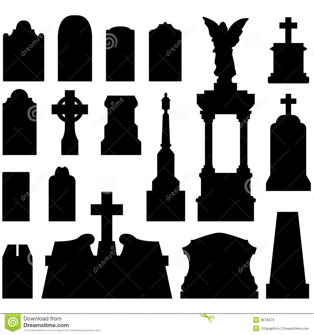 House Design Layout Templates Headstones And Gravestones In Vector Stock Photos Image