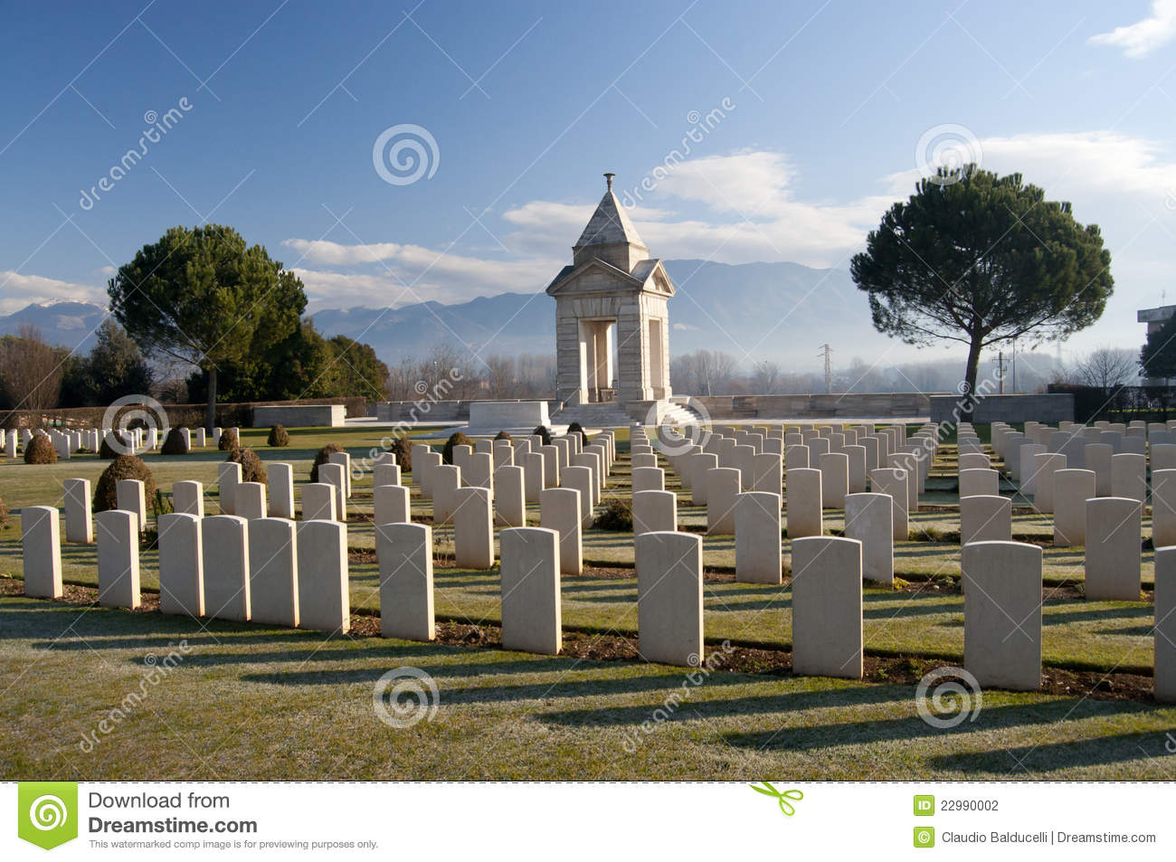 Headstones in War Cemetery
