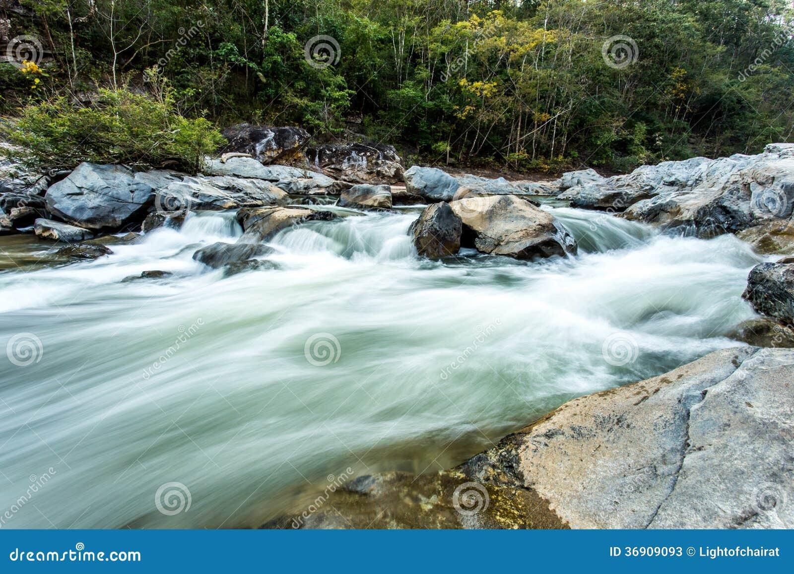 Headstream w Khan parka narodowego chaingmai Tajlandia
