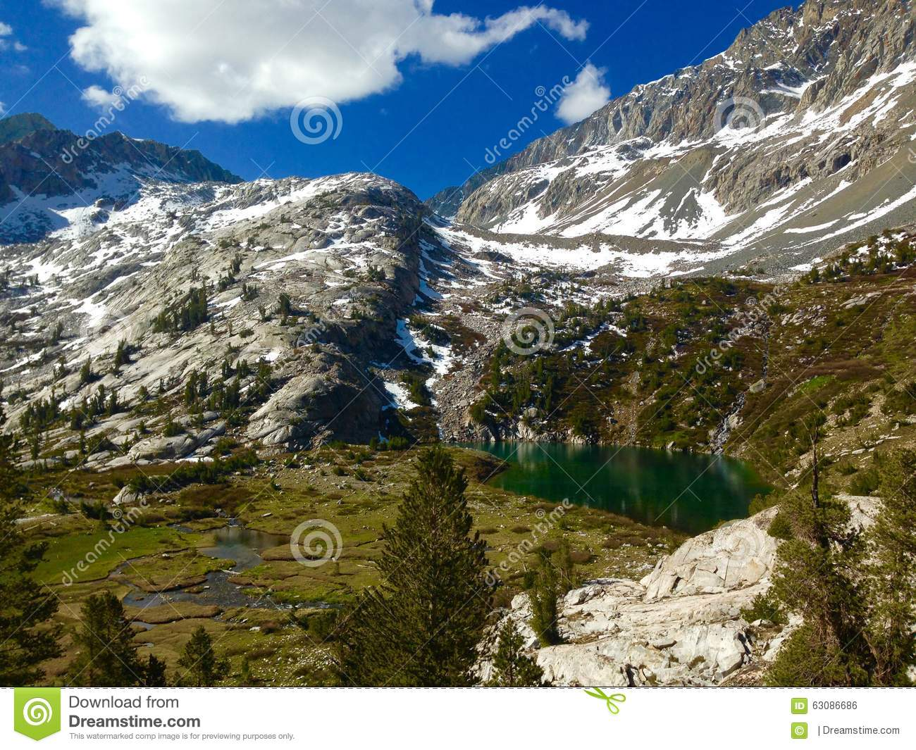 Download Headwaters photo stock. Image du glaciaire, passage, muir - 63086686