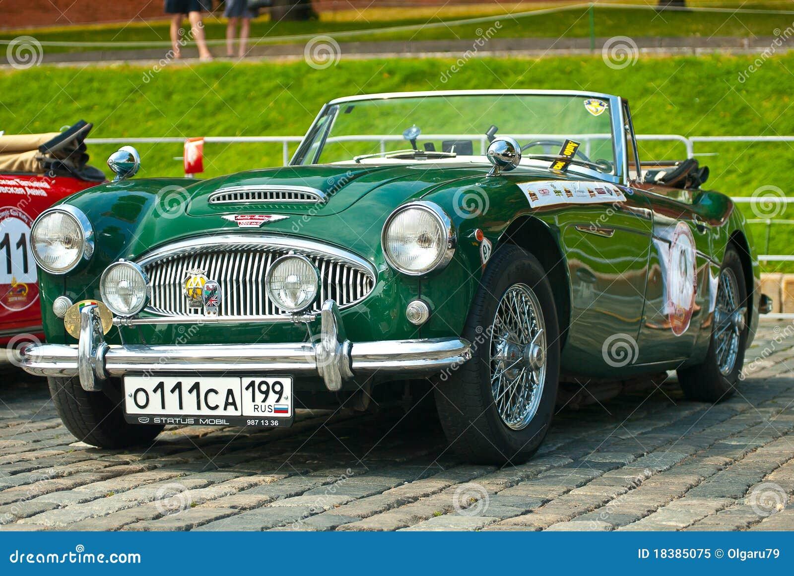 Healey ii mk зеленого цвета автомобиля 1962 3000 austin ретро