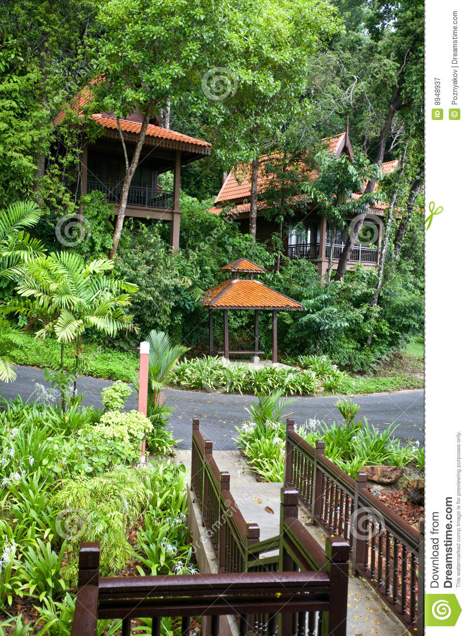 Healh Resort In Rainforest Ecotourism Royalty Free Stock