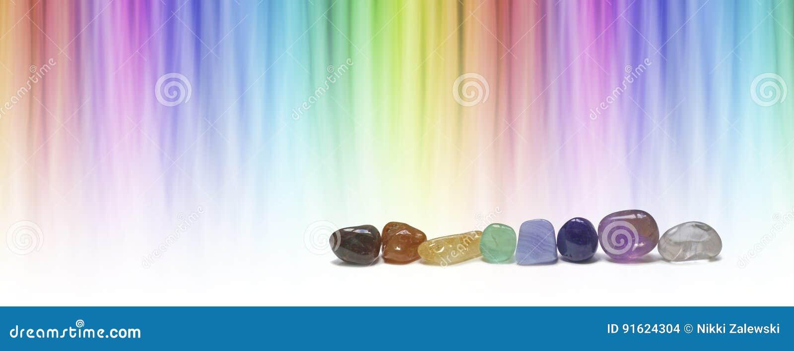 Healing chakra crystals and color healing website header